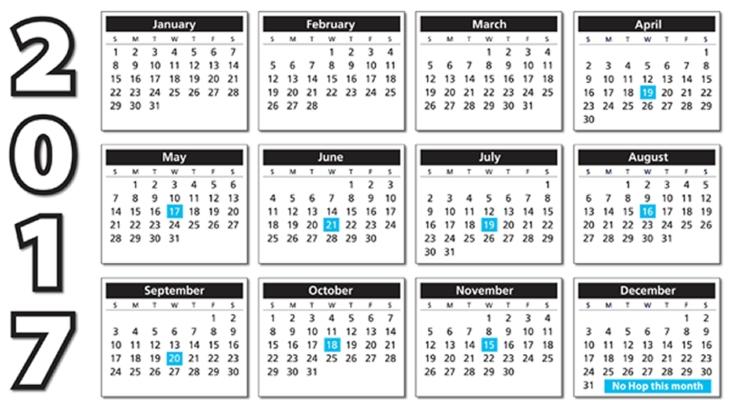 2017 Author Toolbox Blog Hop Calendar