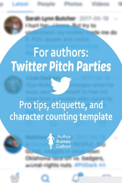 Twitter Pitch Parties: Pro tips, etiquette & character counting template #WritingTips #writers #authors