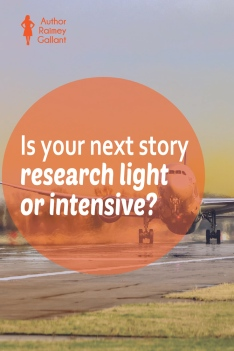 Is your next story research light or intensive? #authors