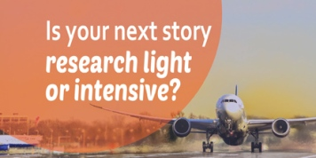 Is your next story research light or intensive?