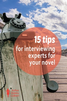 15 tips for interviewing experts for your novel