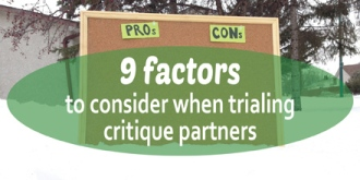 9 factors to consider when trialing critique partners