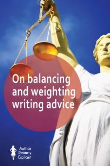 On balancing and weighting writing advice