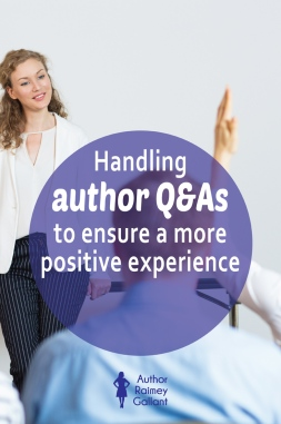 Handling author Q&As to ensure a more positive experience