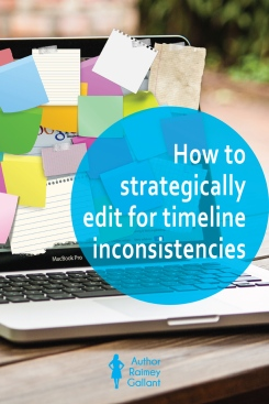 How to strategically edit for timeline inconsistencies
