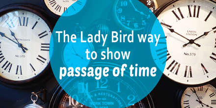 The Lady Bird way to show passage of time #AuthorToolboxBlogHop